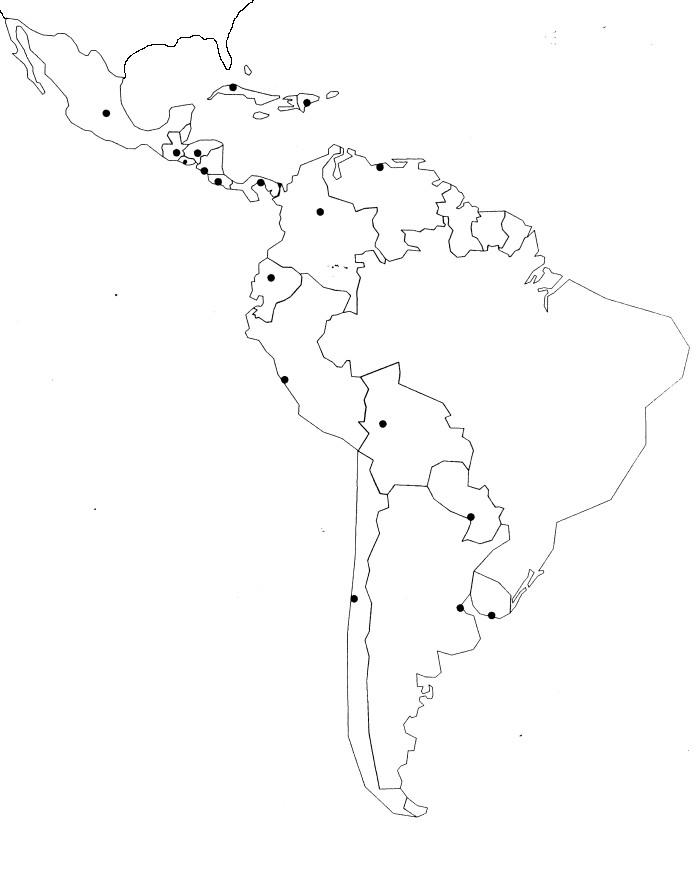 Espagnol  Mapas Amrica Latina